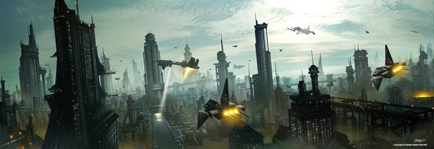 Futuristic Cityscape Scifi