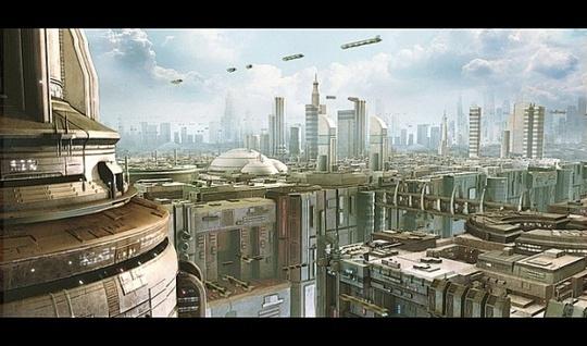 Futuristic Cityscape skyline Scifi