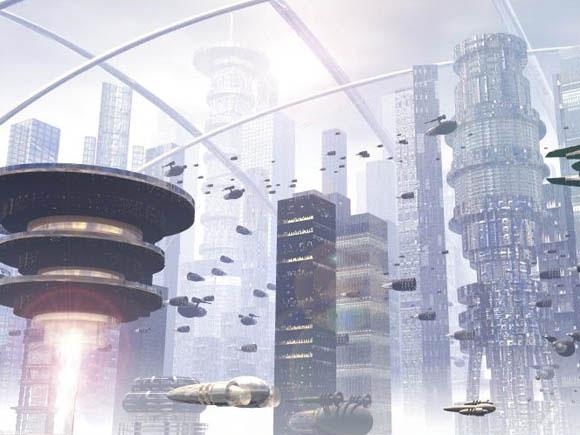 Futuristic City Scifi Bryce 5