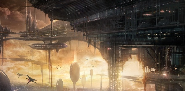 Skyport City Scifi