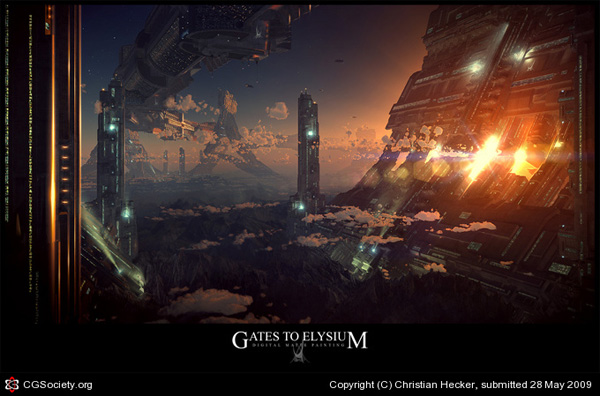 Futuristic Gates Scifi