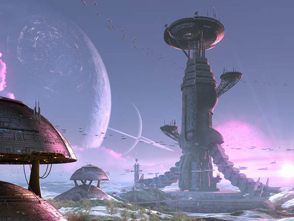 Futuristic Mining City Scifi