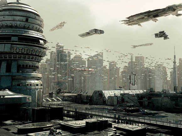 Futuristic City Scifi year 3001