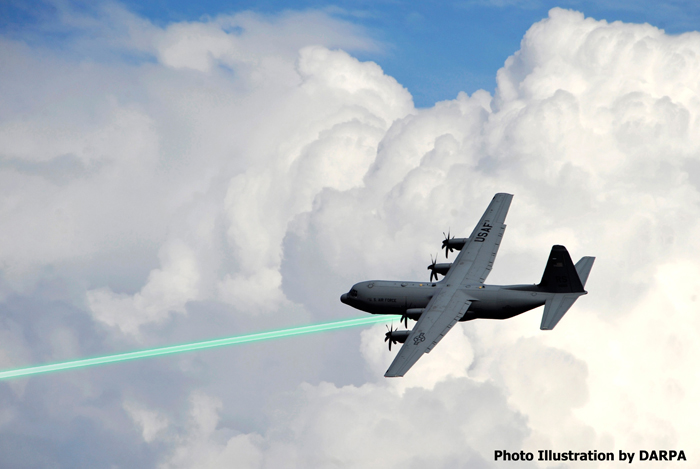 DARPA Lasers mounted on aircraft
